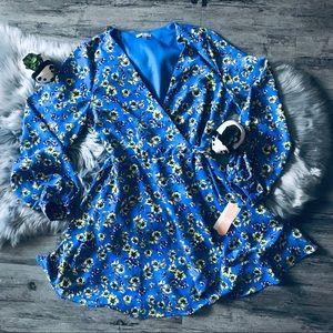 Gianni Bini Periwinkle Floral Wrap Dress